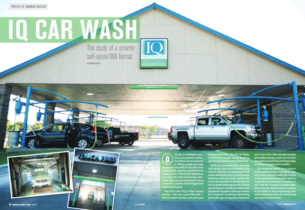 IQ Car Wash featured in Car Wash and Detailing Magazine -