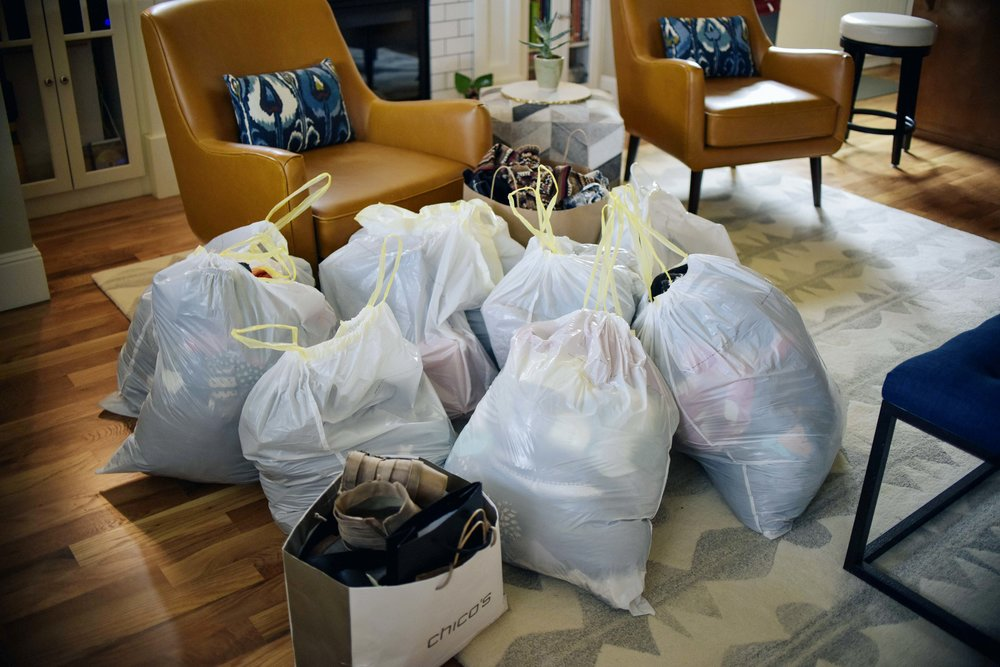 This is not even all that we removed from Teri's closet. Most being donated to  GHM ministries!