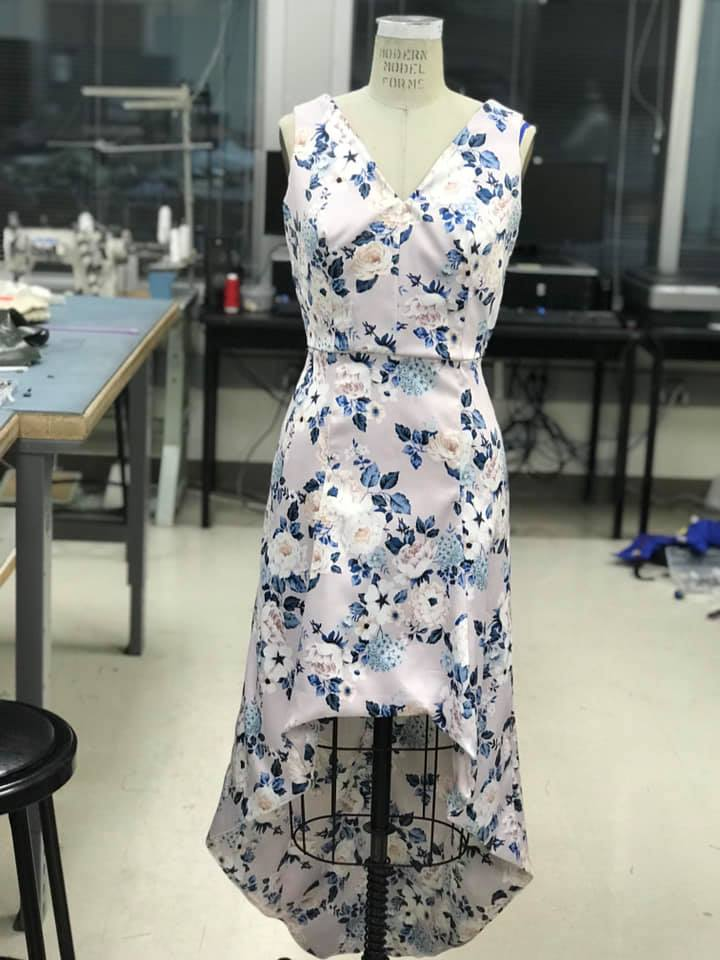 Krista just finished her final project for her draping class its pictured above.