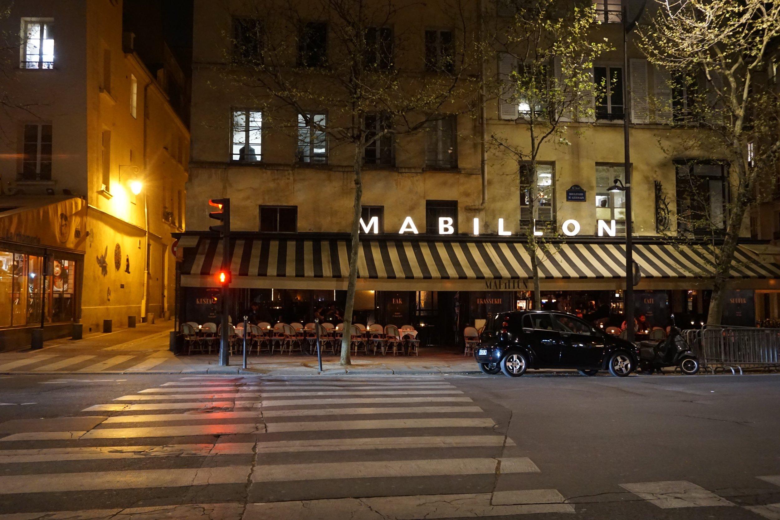 A wonderful cafe in the 6th Saint Germain neighborhood.