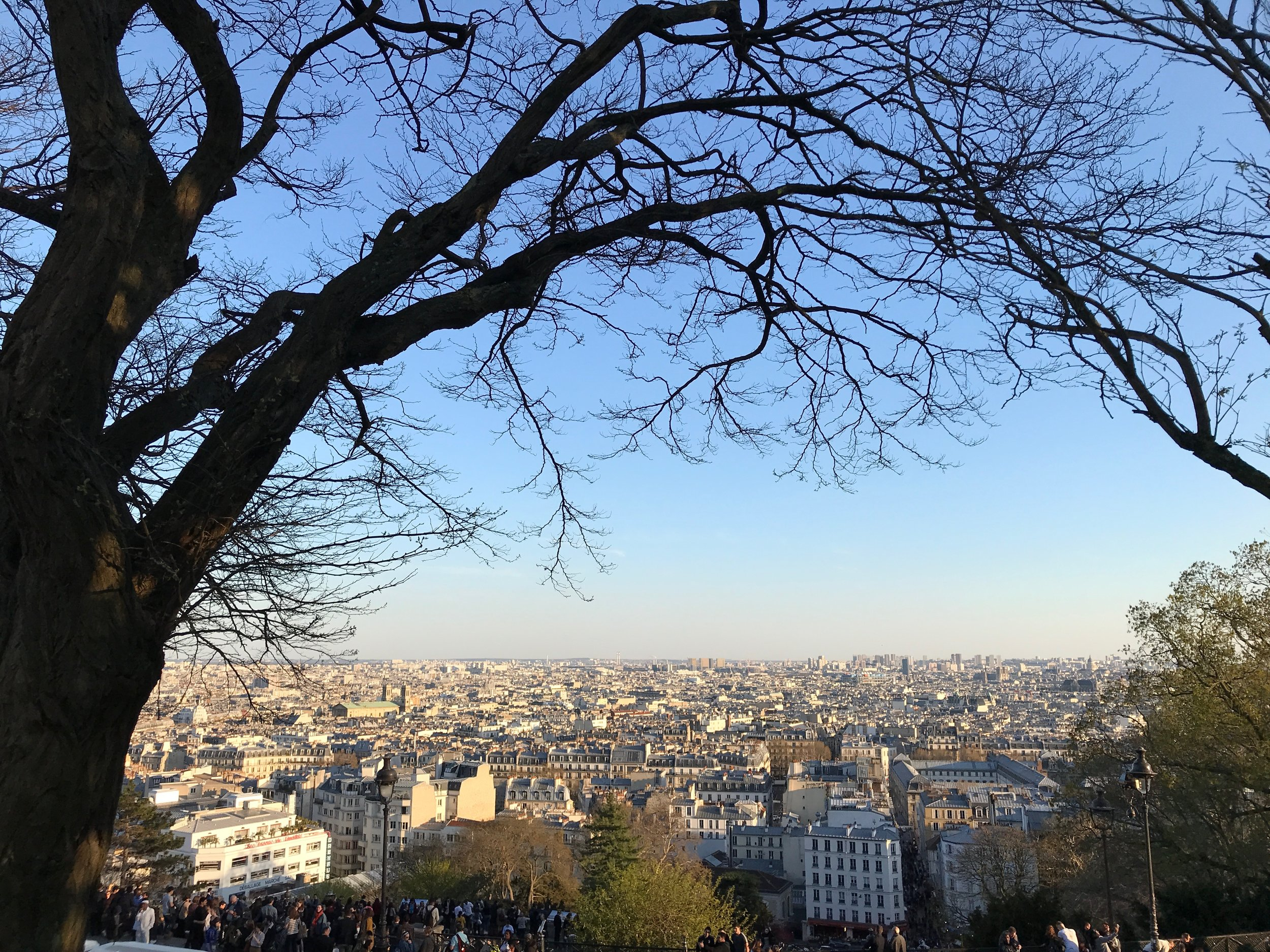 The sunset at the Sacré-Cœur is the best - on the other side of it.