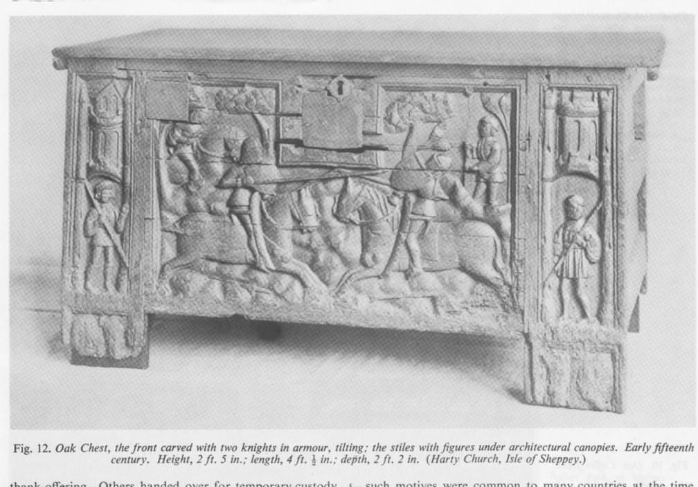 Original hand carved chest