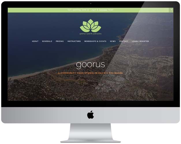 goorus yoga studio website