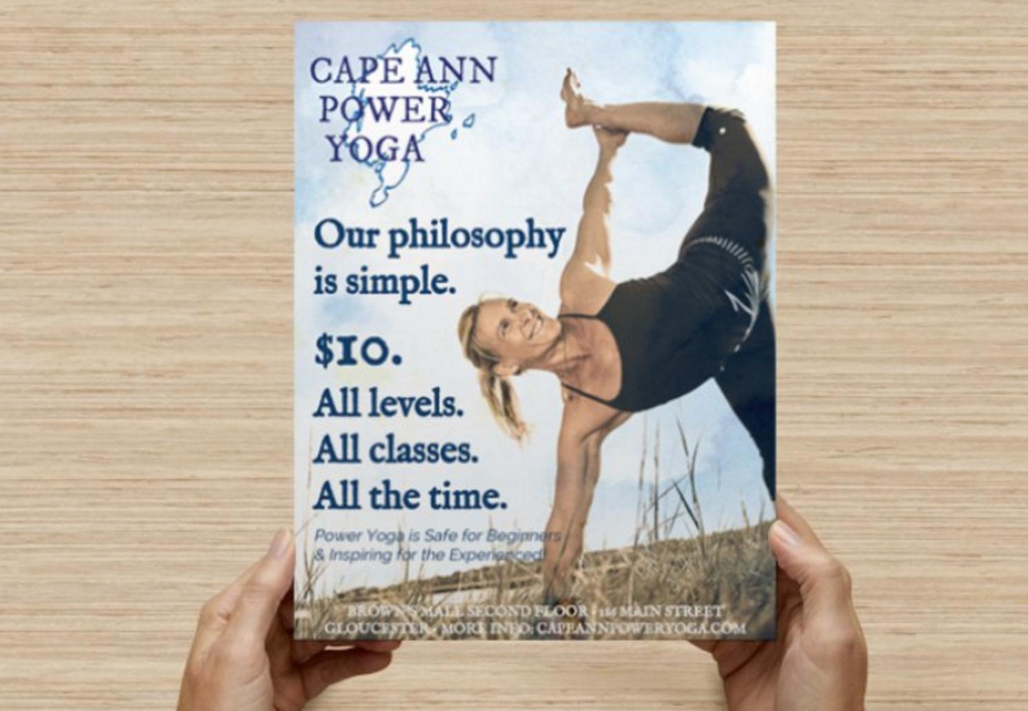 cape ann yoga flyer