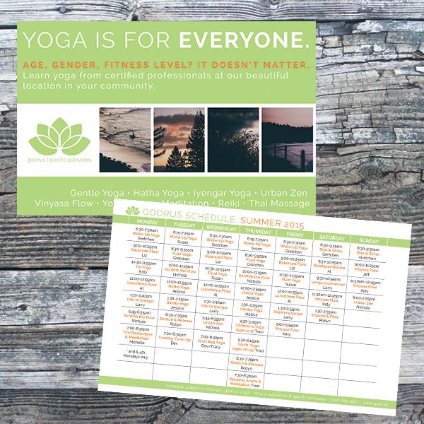 goorus yoga schedule