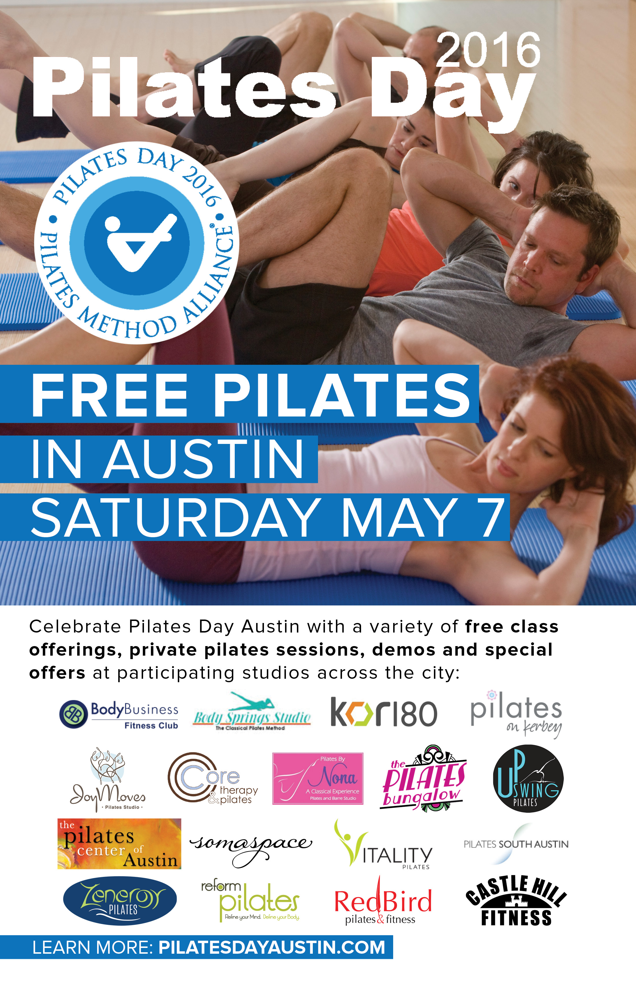 Pilates Day Austin Poster