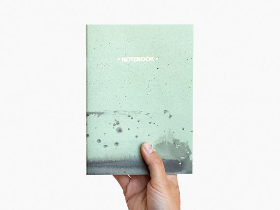 Gold Notebook - pastel green and black cover