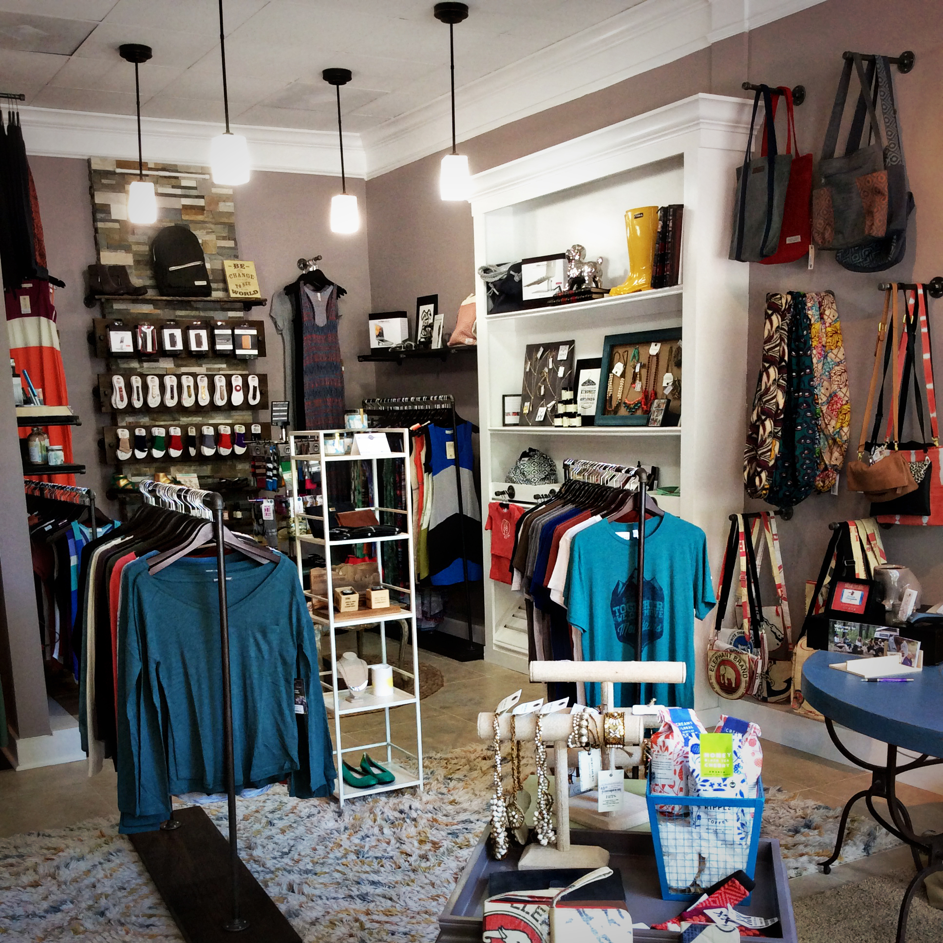 Inside Be the Change Boutique