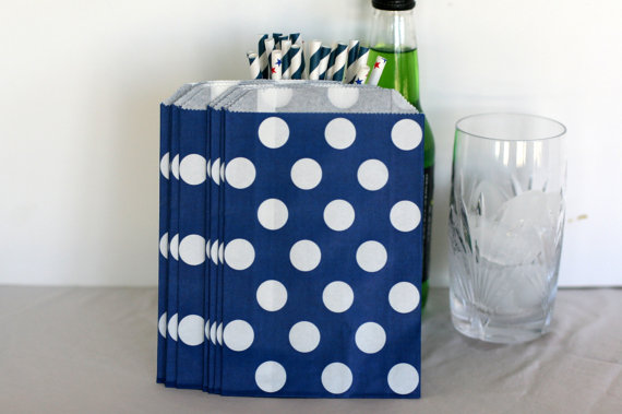 blue party favor bag