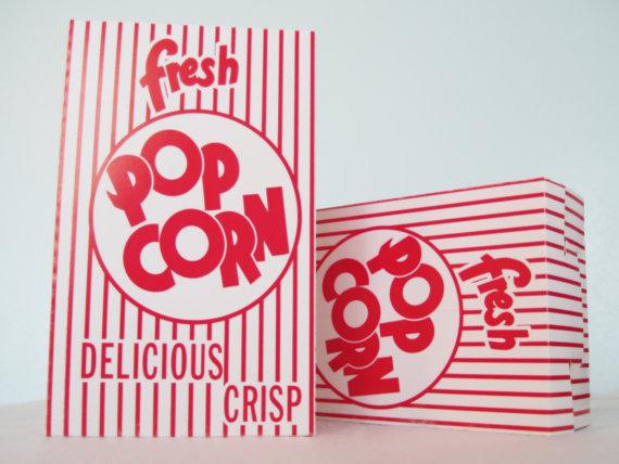 Retro Popcorn container