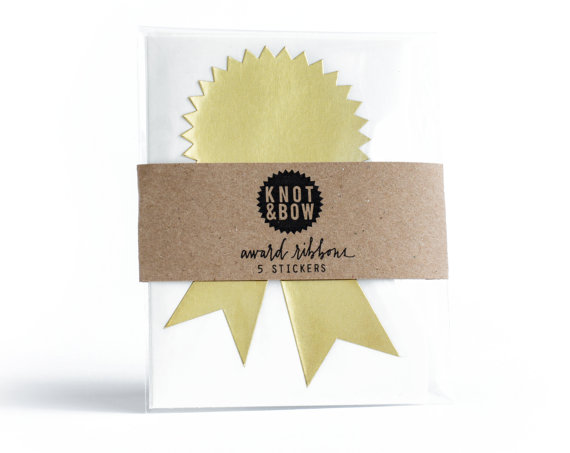 gold award sticker