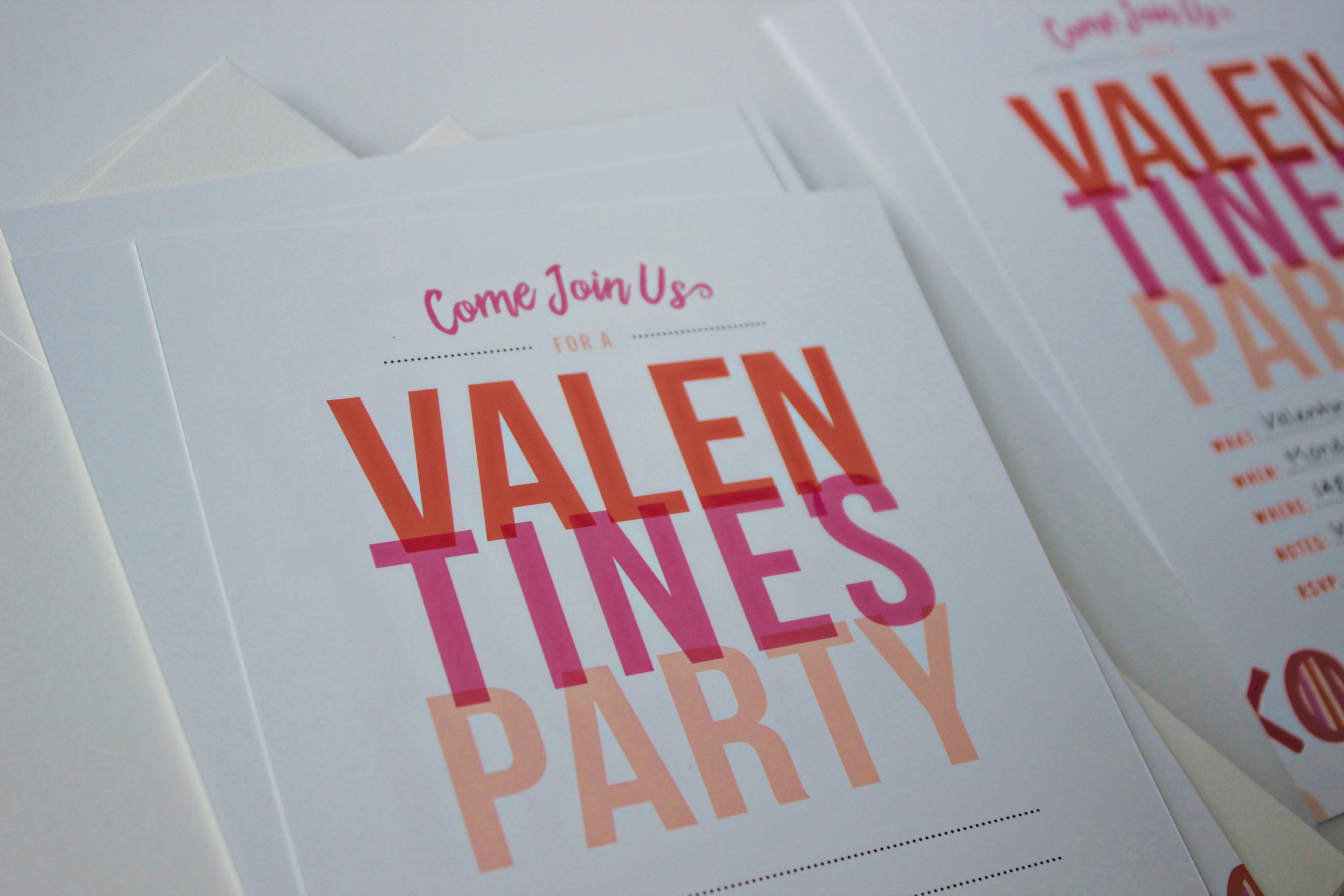 Downloadable Valentine's Invite