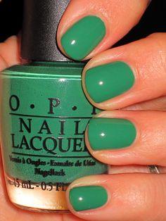 Green OPI Nail Polish