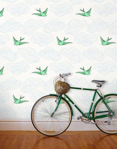 Green Birds wallpaper