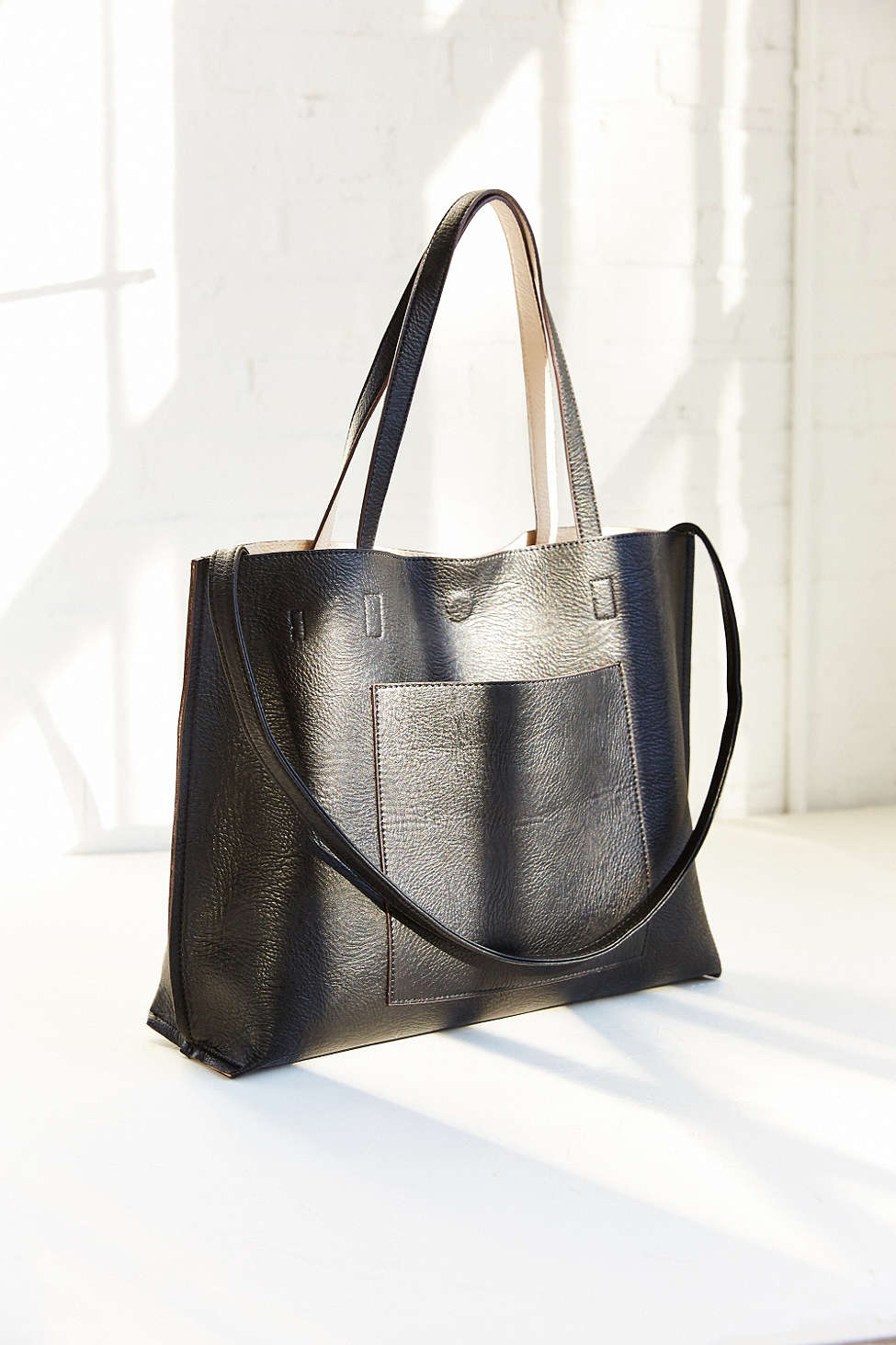 Reversible Leather Tote Bag