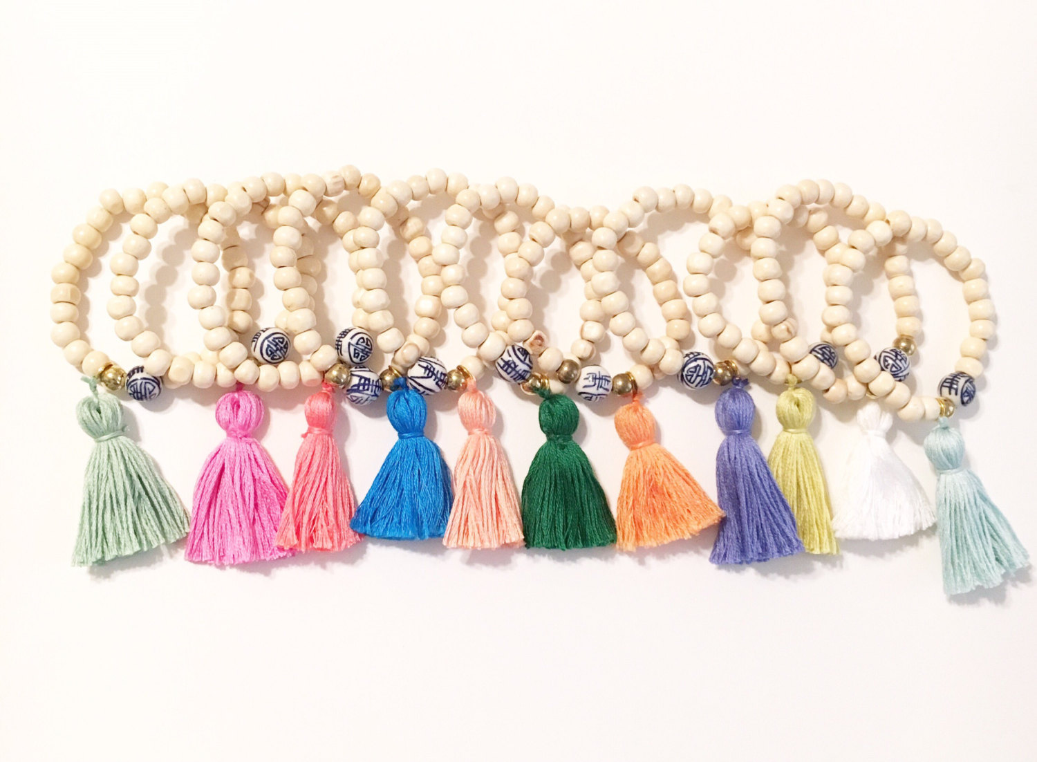 Tassel bracelets by the Tiny Tassel