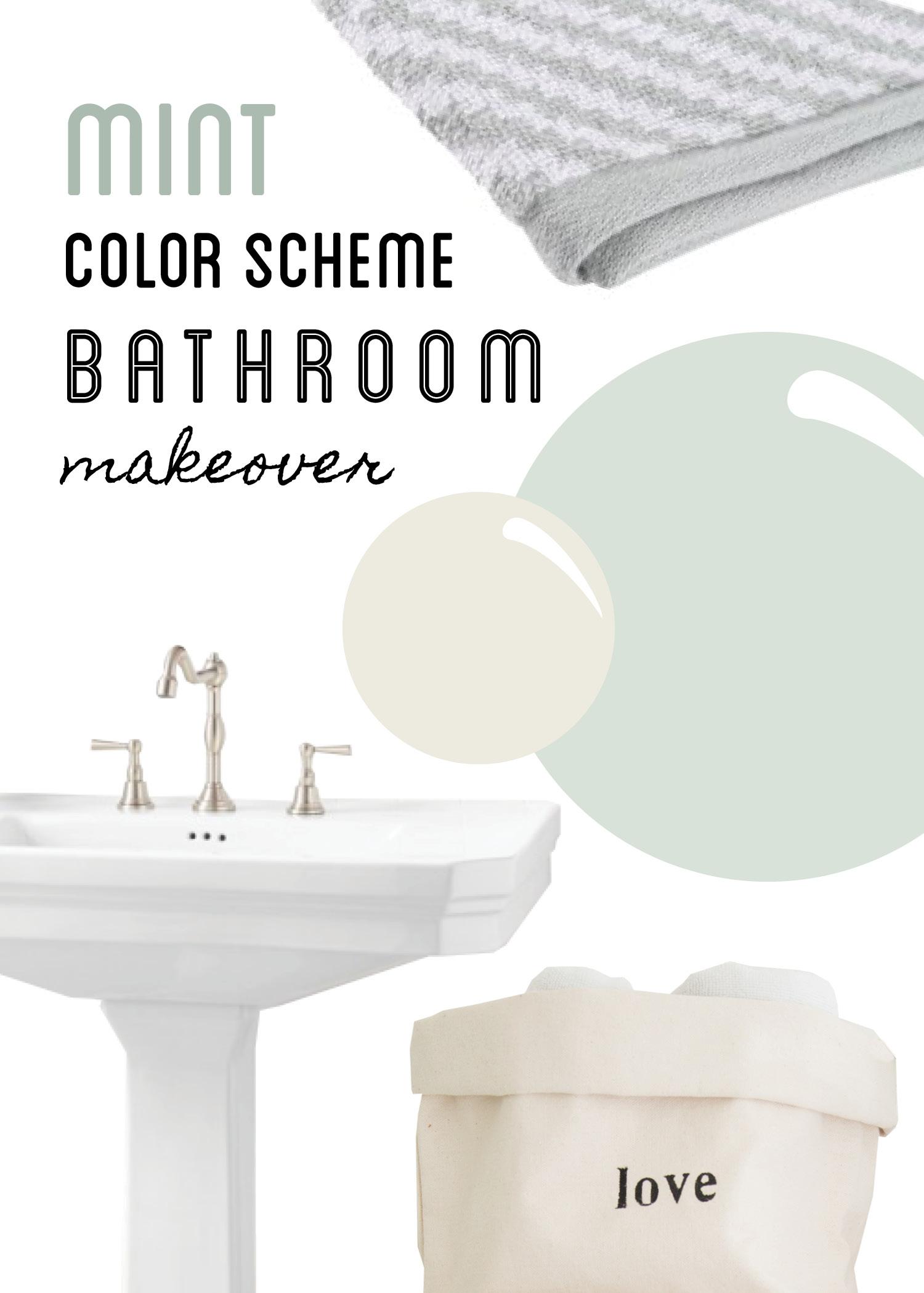 Mint Color Bathroom Design