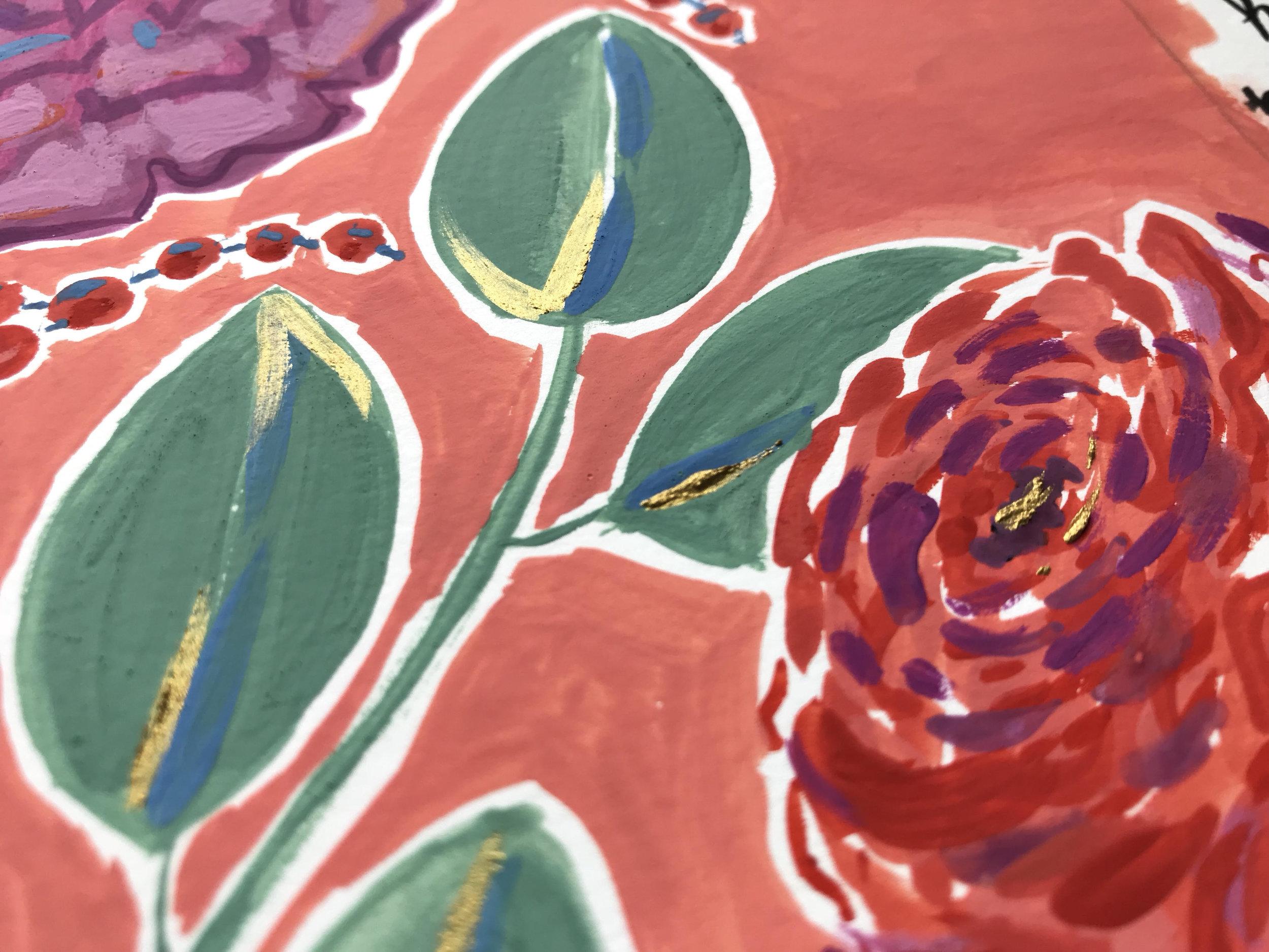 Gouache Painting Detail
