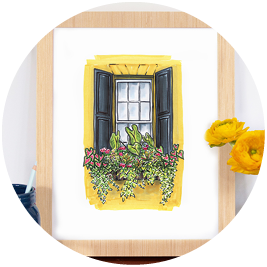 Charleston Flower Box Art Print