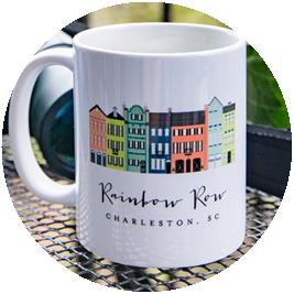Rainbow Row Coffee Mug