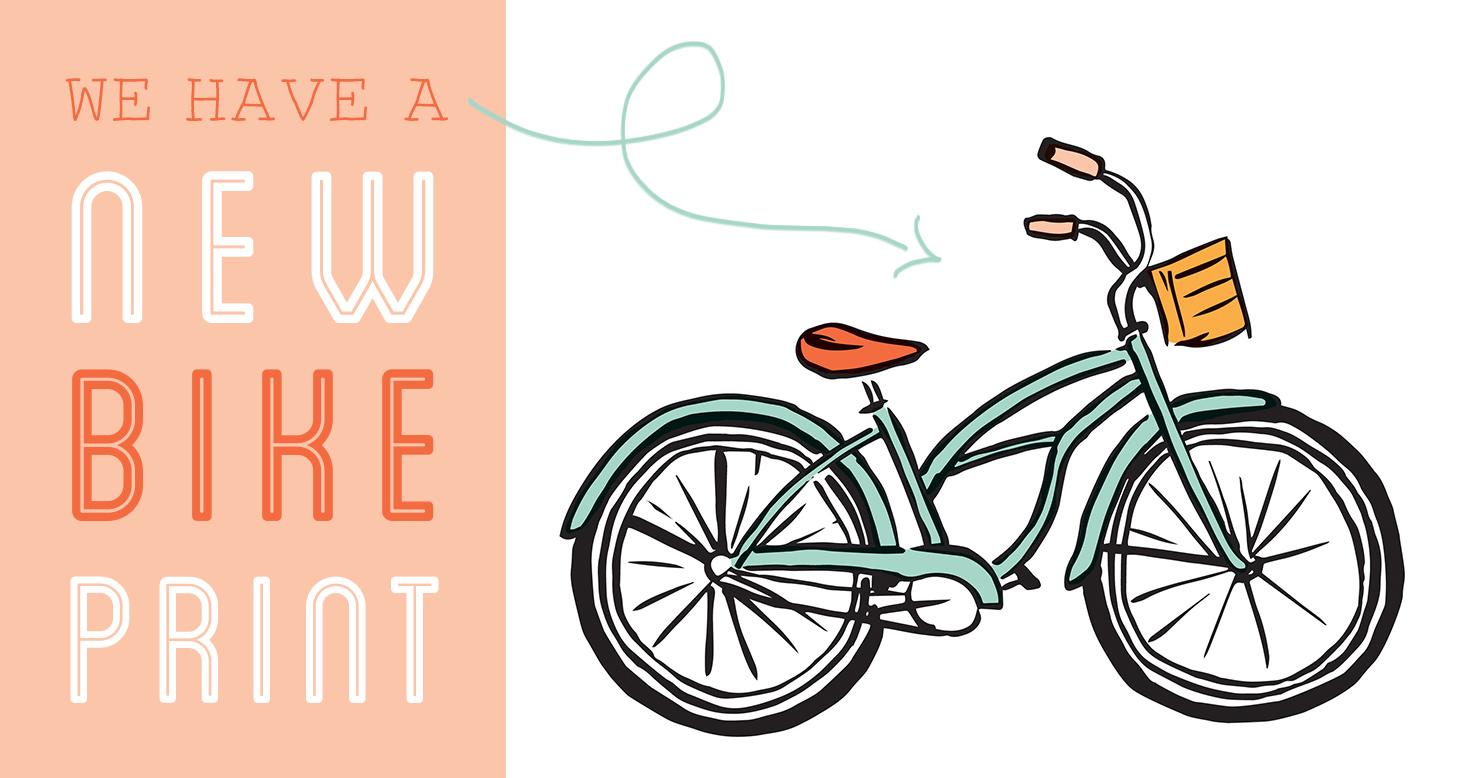 New Bike Art Print