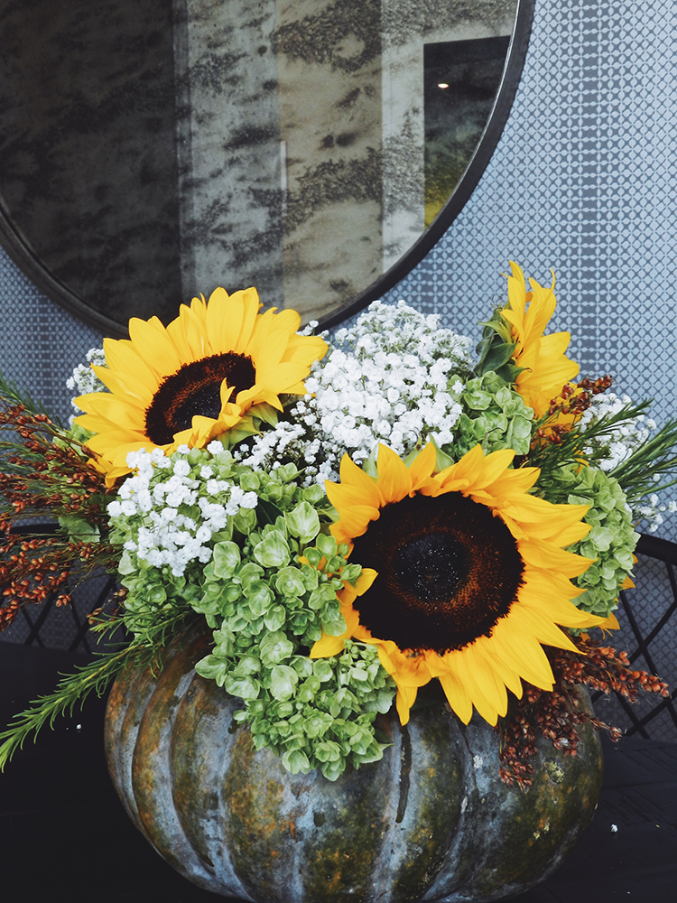 DIY Floral Arranging in a Pumpkin