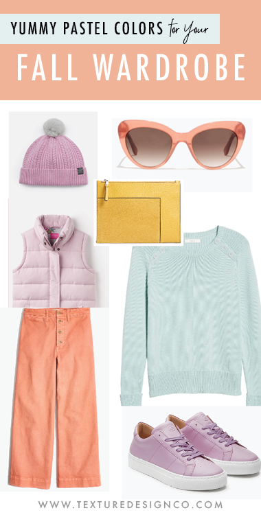 pastel colors for your fall wardrobe