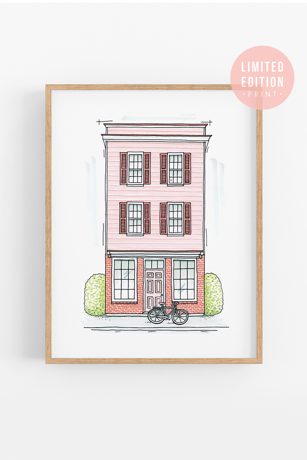 Blush Pink Shop Art Print