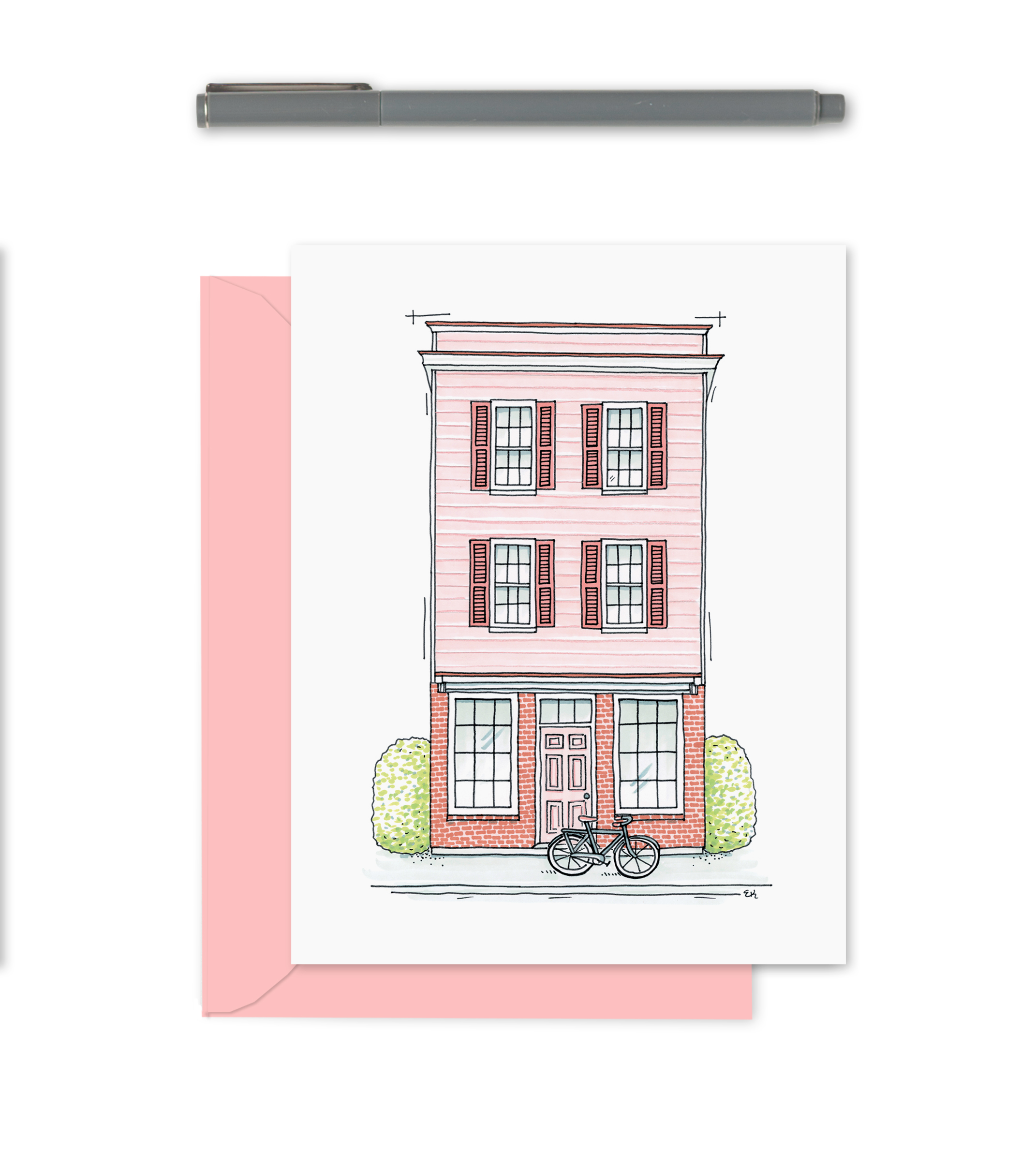 Pink Shop Greeting Card
