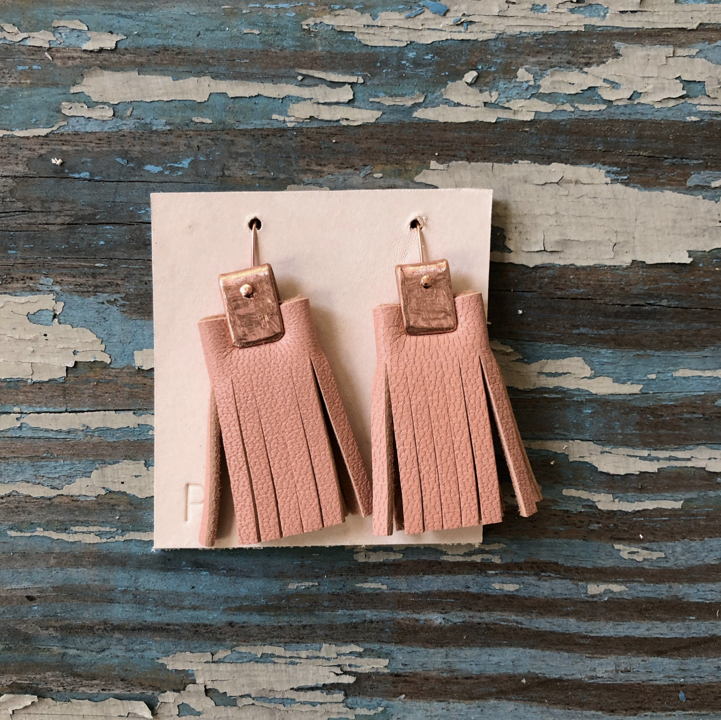Penelope Design Studio leather earrings