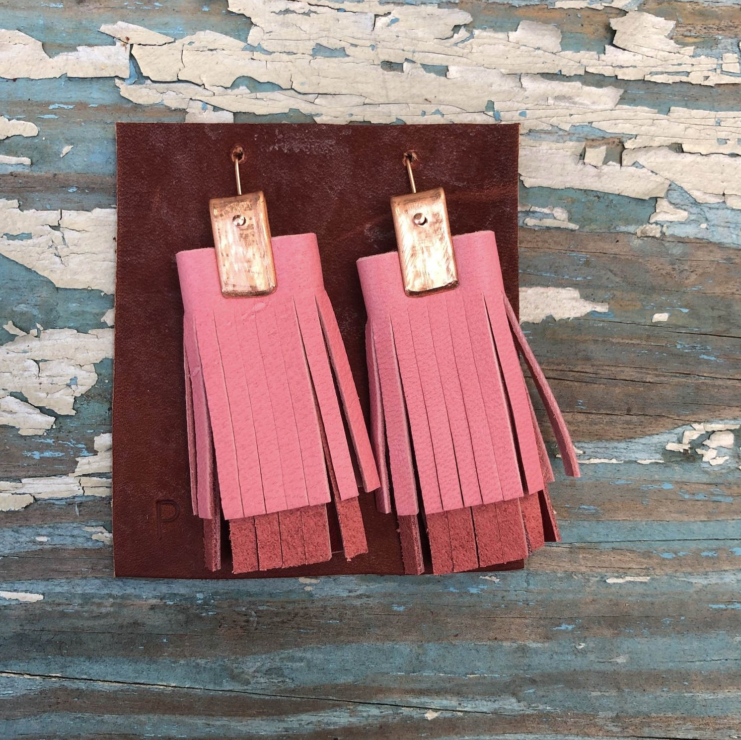 Penelope Design Studio Fringe leather earrings