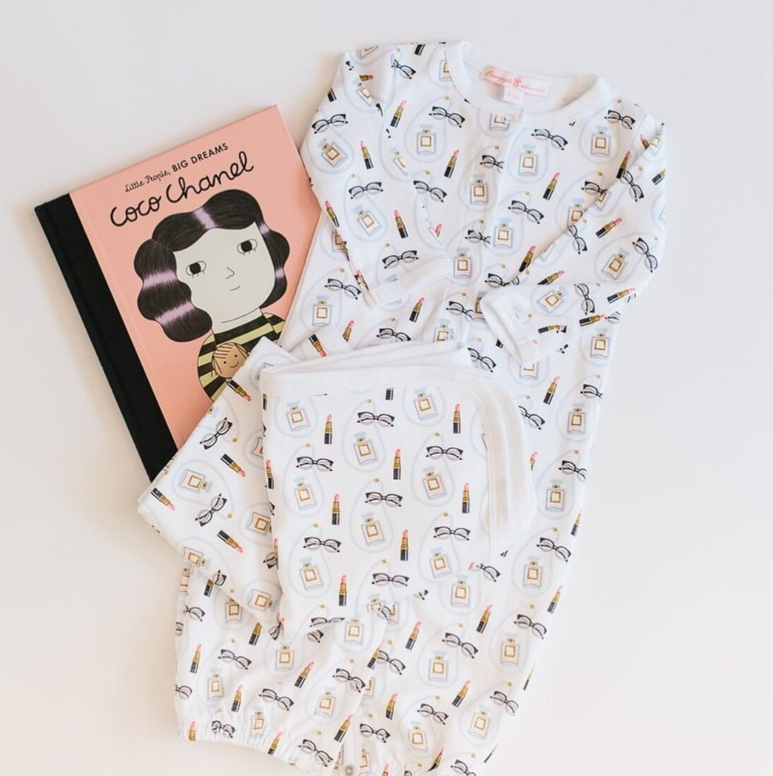 Coco Chanel baby pjs from Pineapple Sunshine