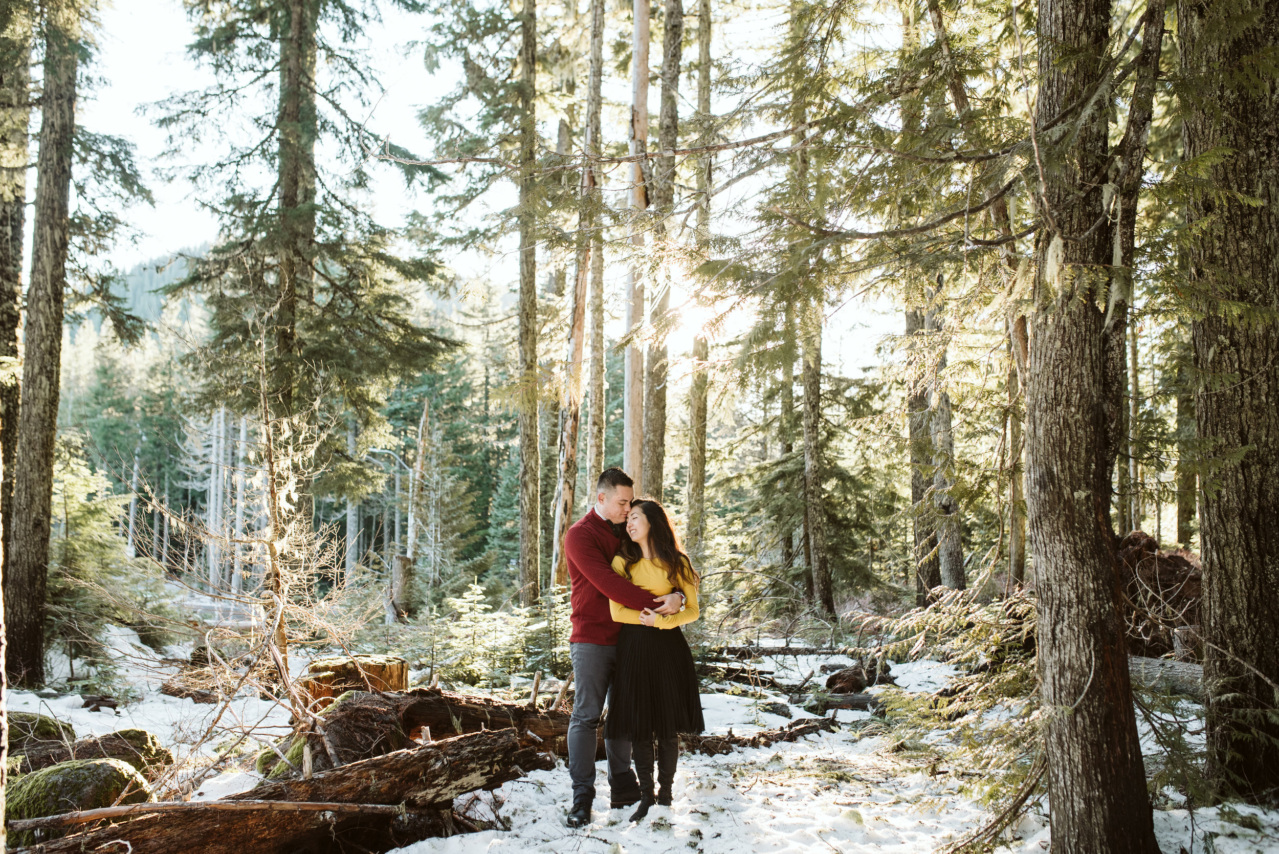 Justin + Christine | Mt Hood Engagement