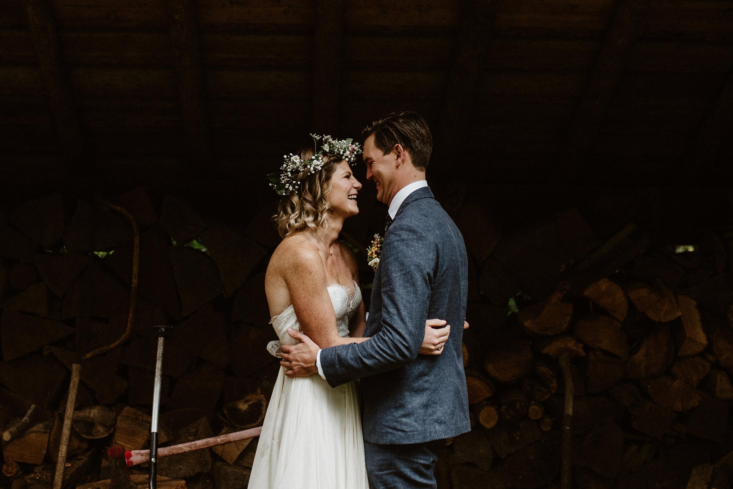 Zach + Shawnee  |  Wedding in the Woods Seattle, WA