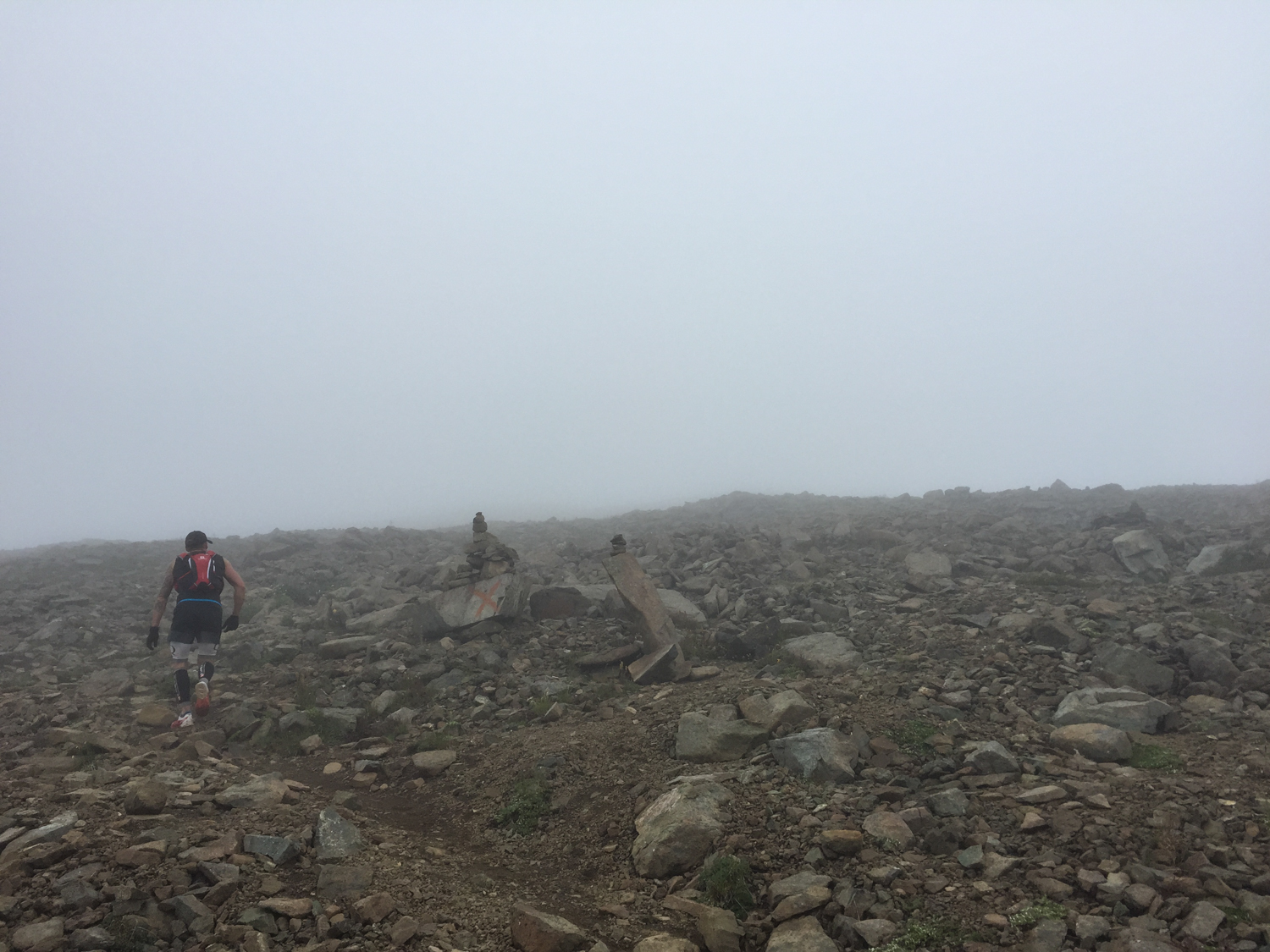 Final push to the summit, somewhere up there