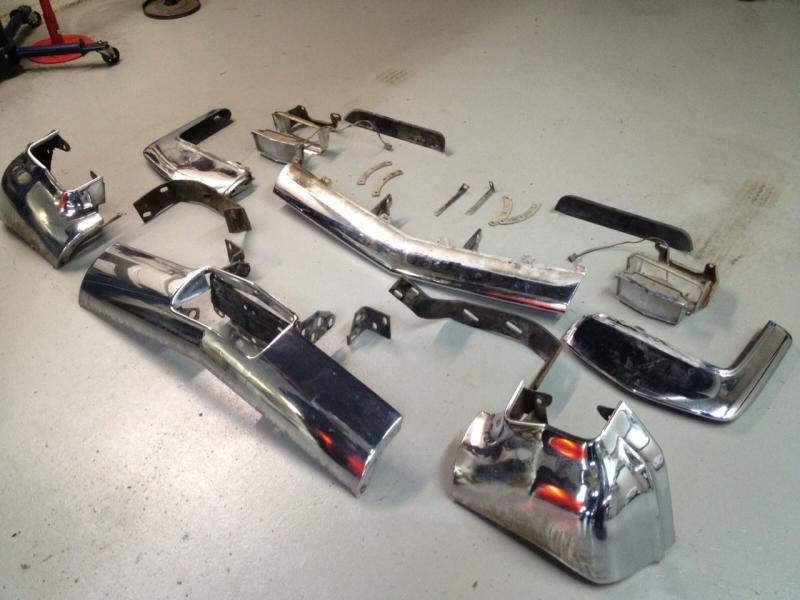 Bumper Disassembled And Ready For Chrome