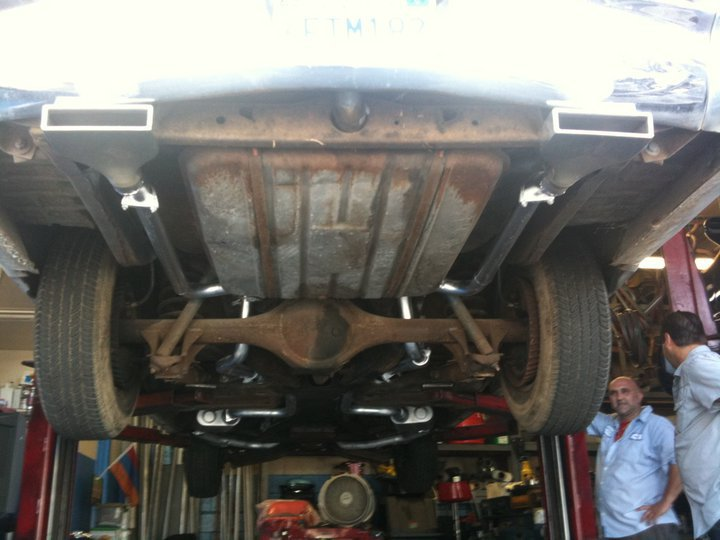 THE NEW MUFFLER SYSTEM with flow masters .. is already in. The system will have a flame thrower system !