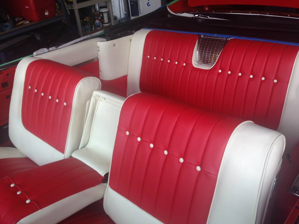 Seats done ( took a liberty.... white buttons .. think GM should have done them this way. The car pops more. )
