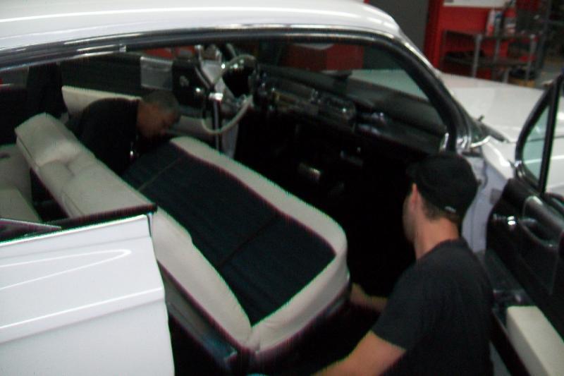 Interior being installed.