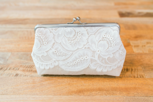 Lace & Linen Clutch    | High Country Bride | Raleigh