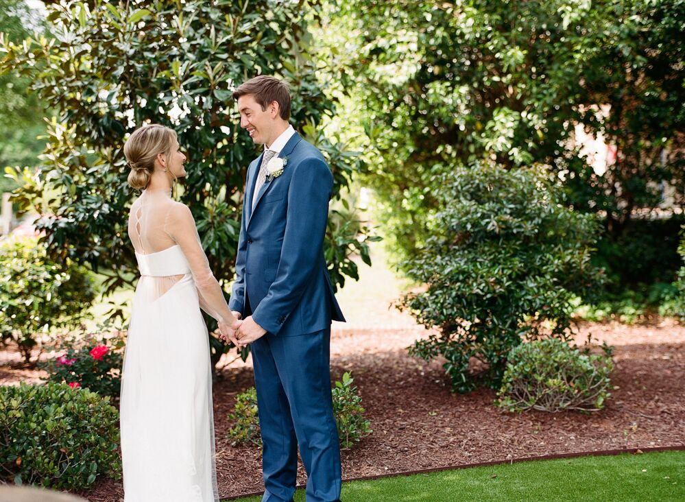 Bride and Groom portraits on  The Merrimon-Wynne House Lawn!