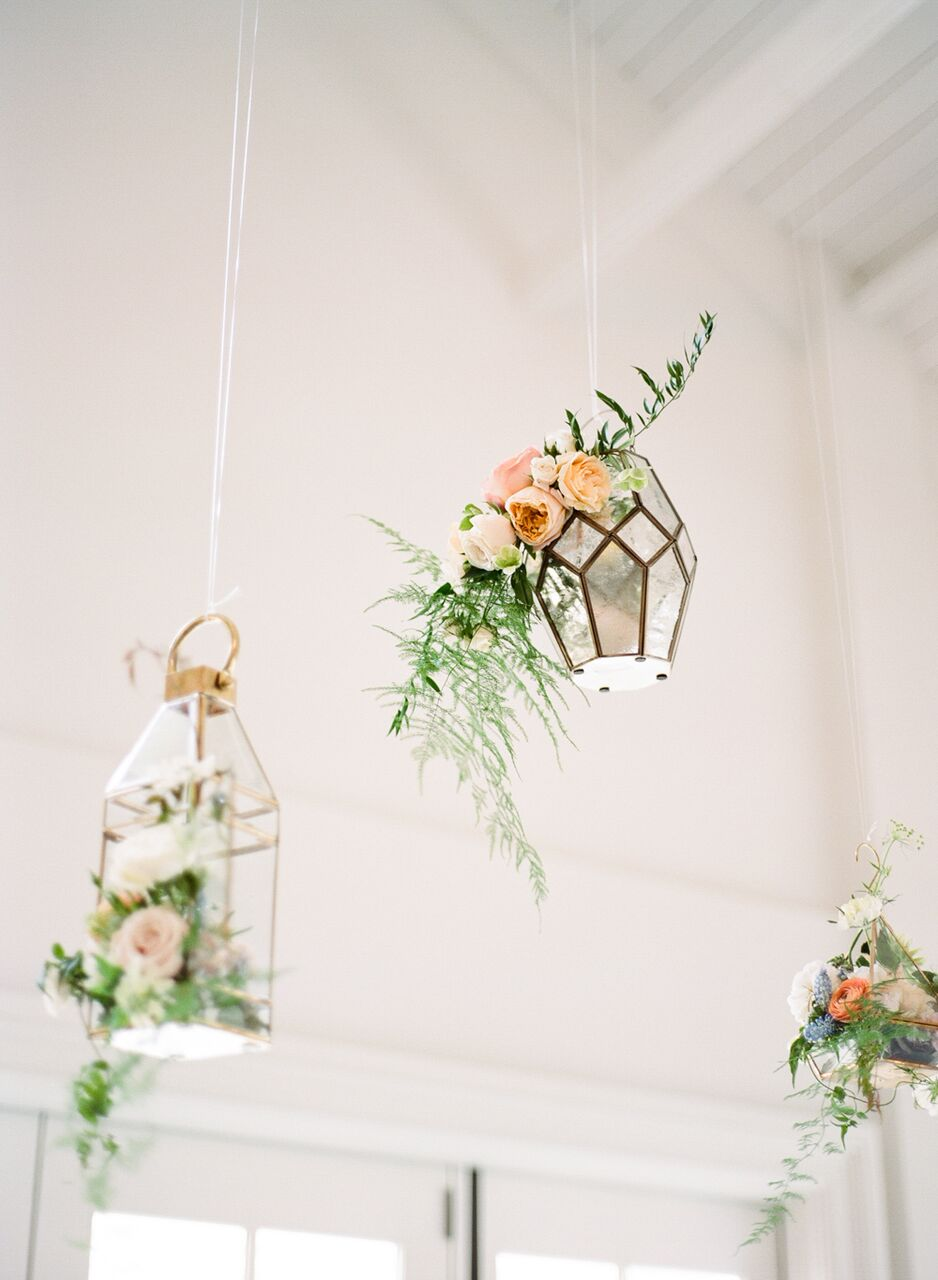 Dangling lanterns in The Carriage House.