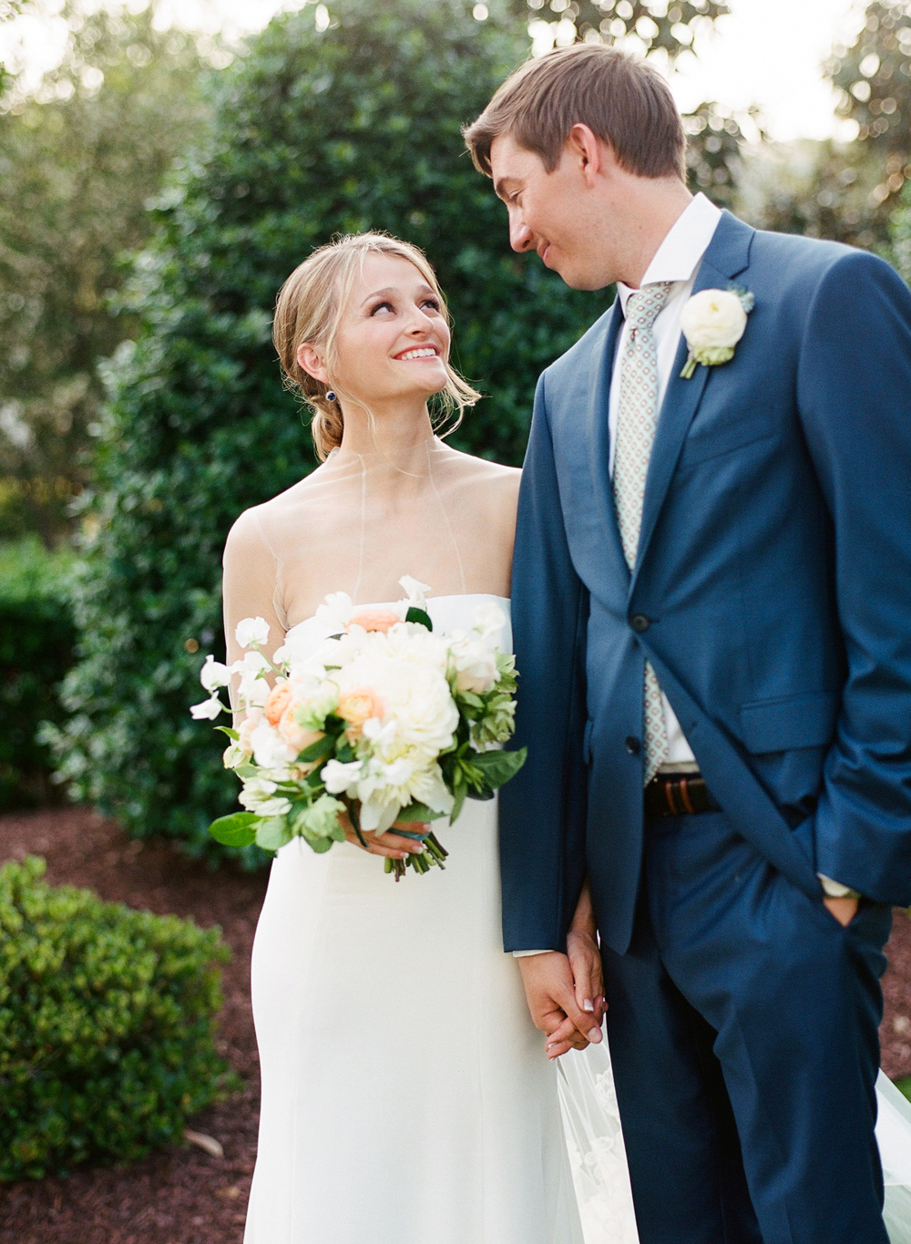 Bride and Groom Portrait at  The Merrimon-Wynne House