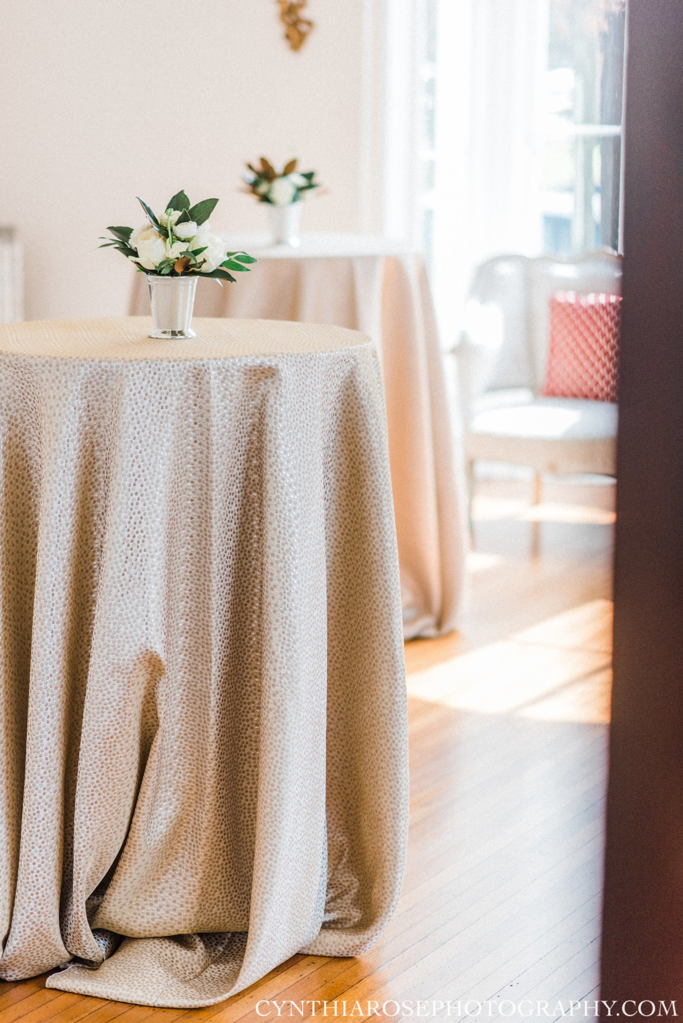 Planning:  La Fête   Photography: Cynthia Rose   Florals: Artfully Arranged   Catering: Mitchell's Catering   Rentals: Party Reflections