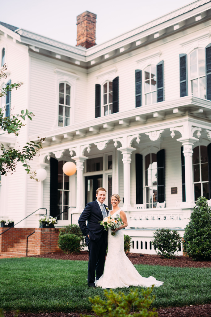 Southern Bride & Groom  This Wedding at The Merrimon-Wynne House Was Classic With a Modern Twist