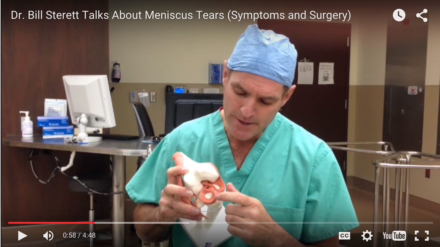 To watch a video detailing Meniscus Tears, please click above.