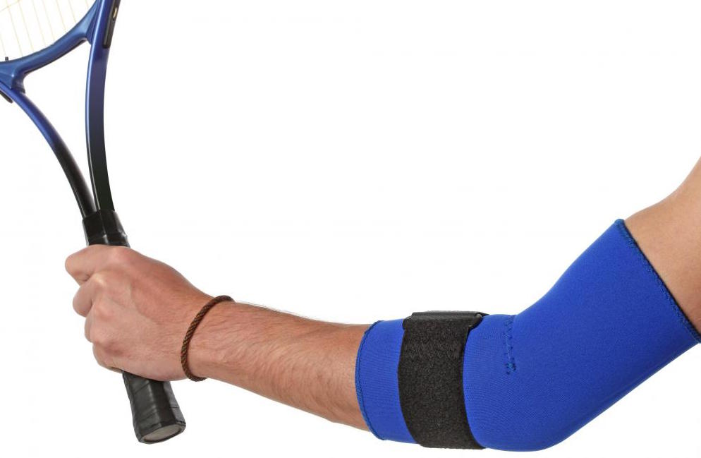 An elbow strap can help ease the condition.
