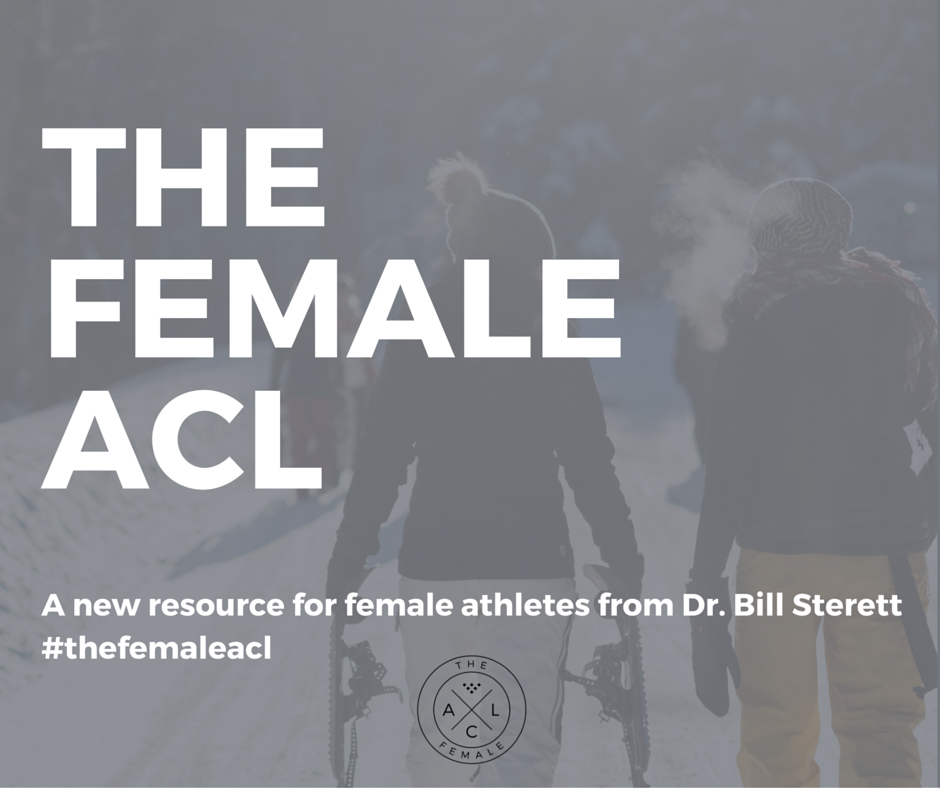 Are you a female athlete dealing with a knee injury? Dr. Sterett has a site for you at www.thefemaleacl.com