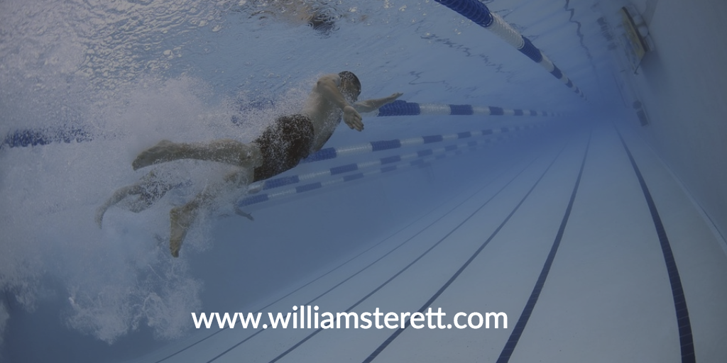 Once you master some of the exercises in this article, try swimming. It's an exercise that will push you while not punishing your knees.