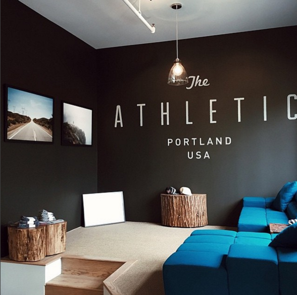 The Athletic logo wall